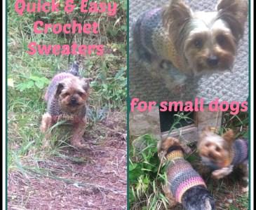 Free Easy Small Dog Crochet Sweater www.itchinforsomestitchin.com