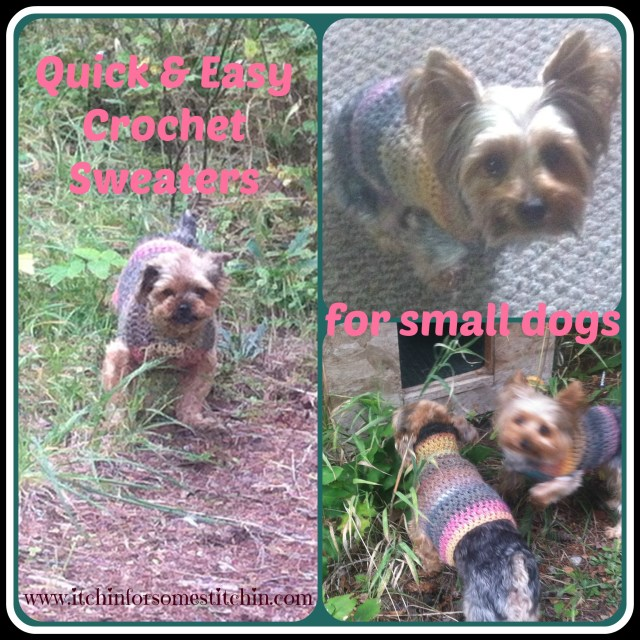 Free Easy Small Dog Crochet Sweater www.itchinforsomestitchin.com