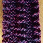 One side of Knit Scarf. itchinforsomestitchin.com