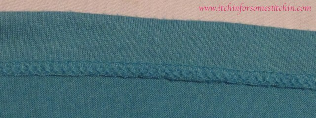 Serged Seam
