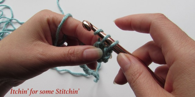 How to Double Crochet_Step 8. http://www.itchinforsomestitchin.com