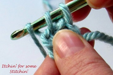 Yarn over. There are 3 loops on the hook. http://www.itchinforsomestitchin.com