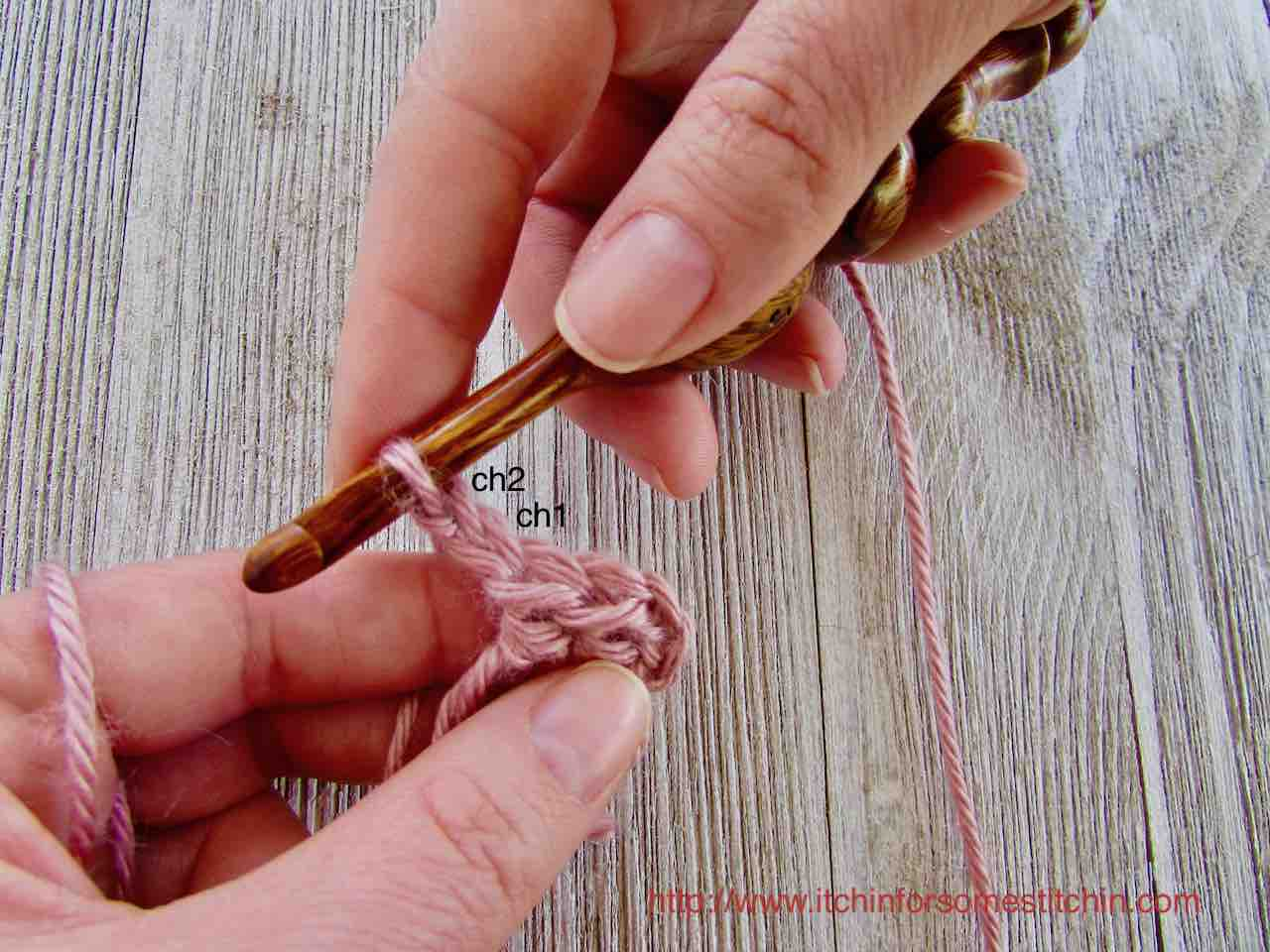 Granny Squares_1st ch2 space by http://www.itchinforsomestitchin.com