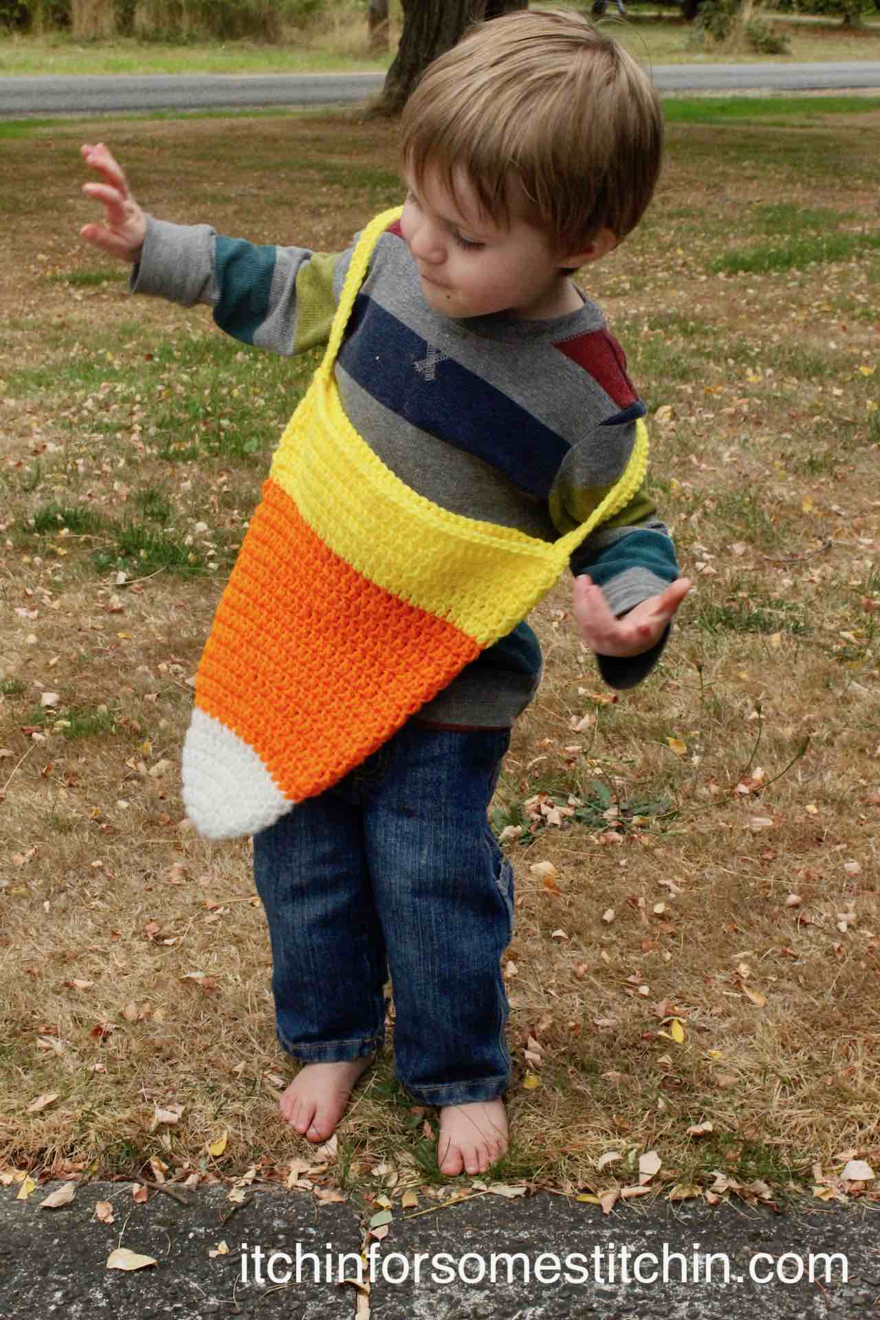 Start right below the white part on the candy corn and attach both sides of the … Halloween Candy Corn Crochet Treat Bag Itchin For Some Stitchin