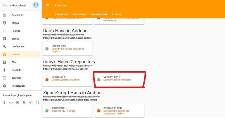 Guida - Hassio] OpenVPN Server su Hassio con un Addon