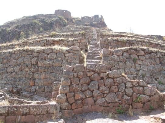 Stonework of the Pisac, Peru ruins