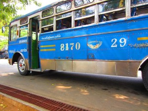 Bus to Erawan Falls, Thailand