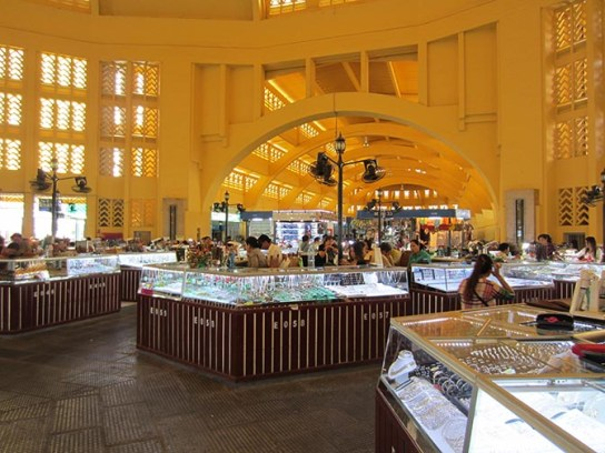 The Central Market in Phnom Penh, Cambodia