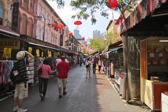 Chinatown's Pagoda Street in Singapore