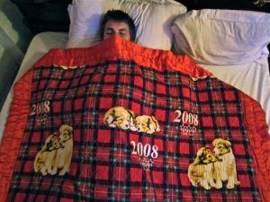 Dog bedspread comforter