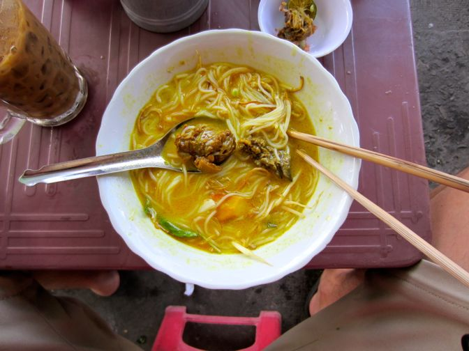 Bowl of duck soup in Can Tho, Vietnam