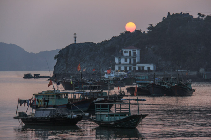 Sunset in Cat Ba Island, Vietnam