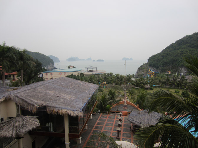 View from Cat Ba Resort and Spa balcony.