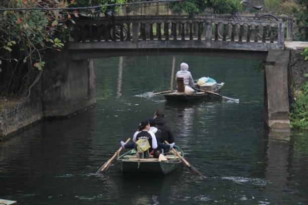 Tam Coc, Vietnam river tour.