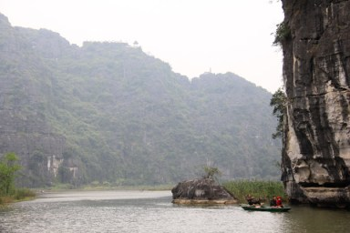 A tourist boat in Tam Coc, Vietnam