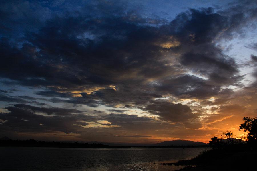 Hoi An, Vietnam sunset over river