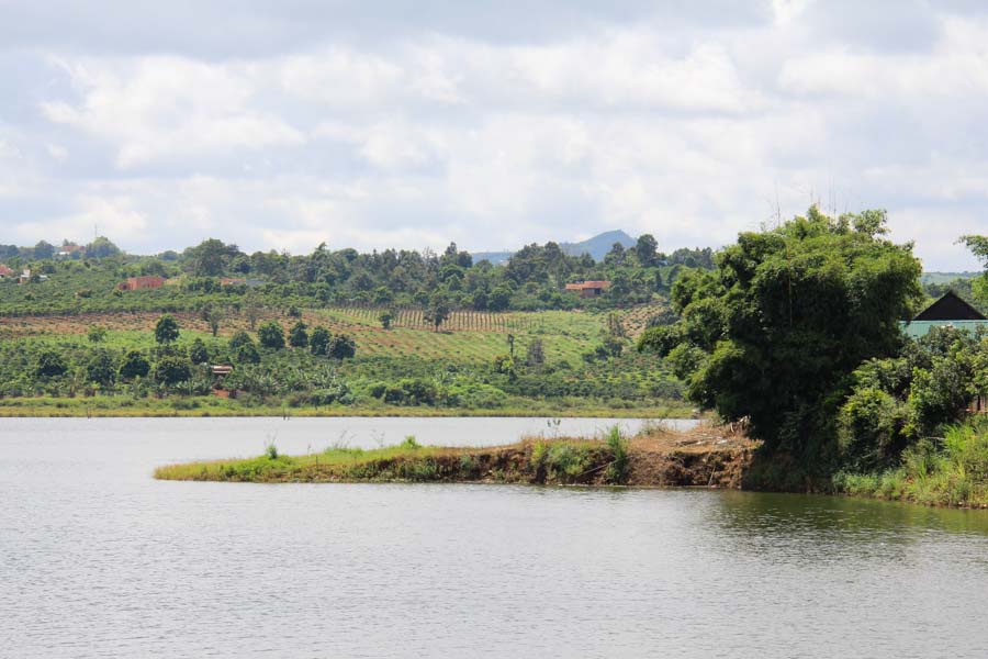 Lake in Ea H'Leo, Dak Lak, Vietnam