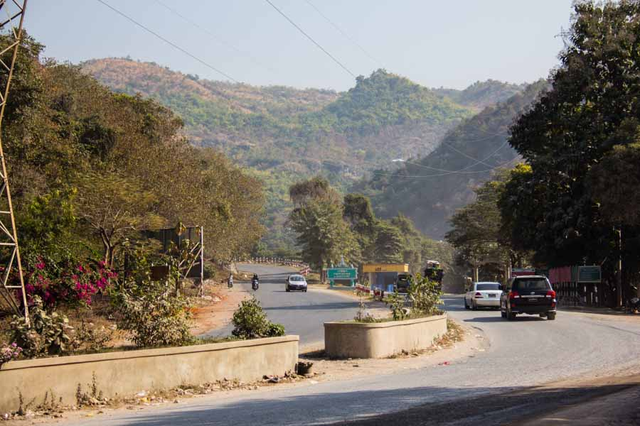 Road going to Pyin U Lwin, Myanmar