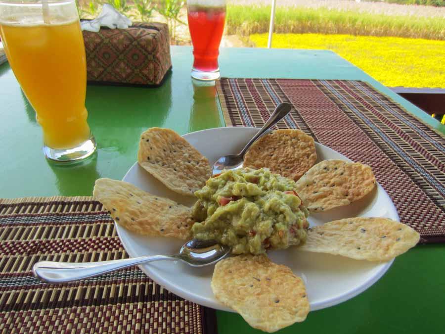 Avocado salad at Inle Heart View Restaurant in Inle Lake, Myanmar
