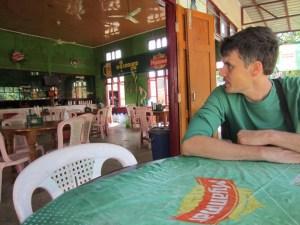 beer garden - drinking beer in myanmar