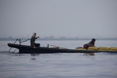 Transporting goods on Inle Lake, Myanmar