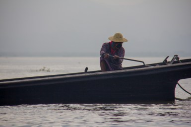 Inle Lake, Myanmar boat assassin