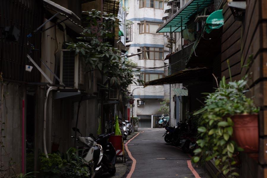 Residential street in Taipei, Taiwan