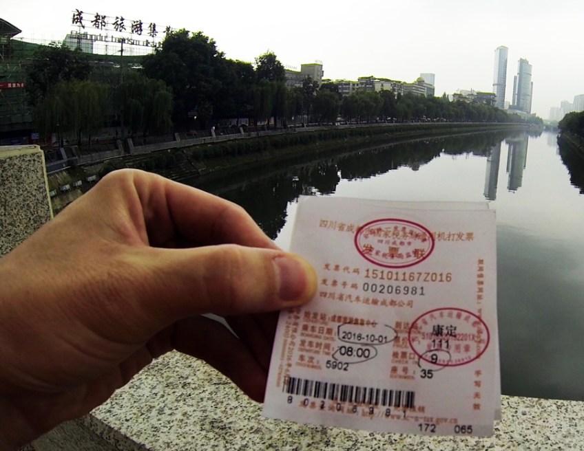 Xinnanmen Bus Station ticket in Chengdu, China