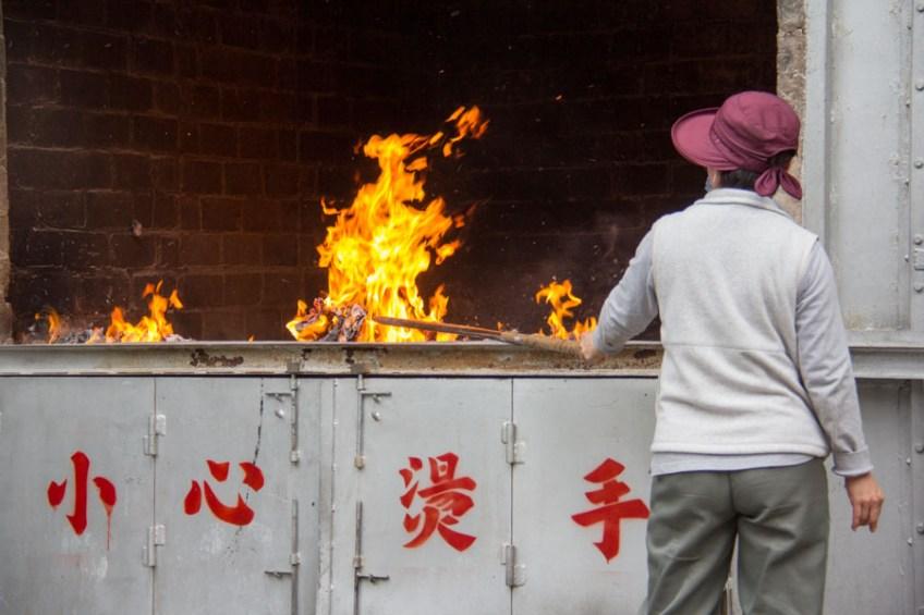 incense fire in Pai Tau, Hong Kong temple