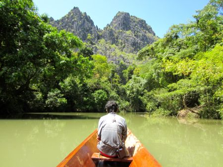 Kong Lor Cave boat tour in Laos