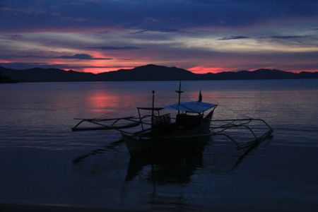 Sunset in Port Barton, Philippines