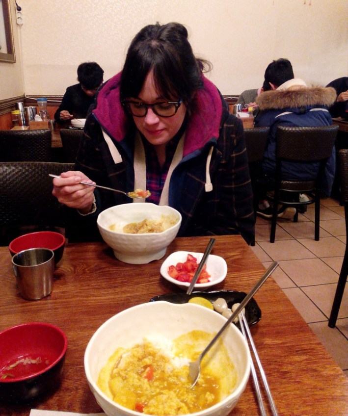 Curry at Seoul's Tokya Udon restaurant
