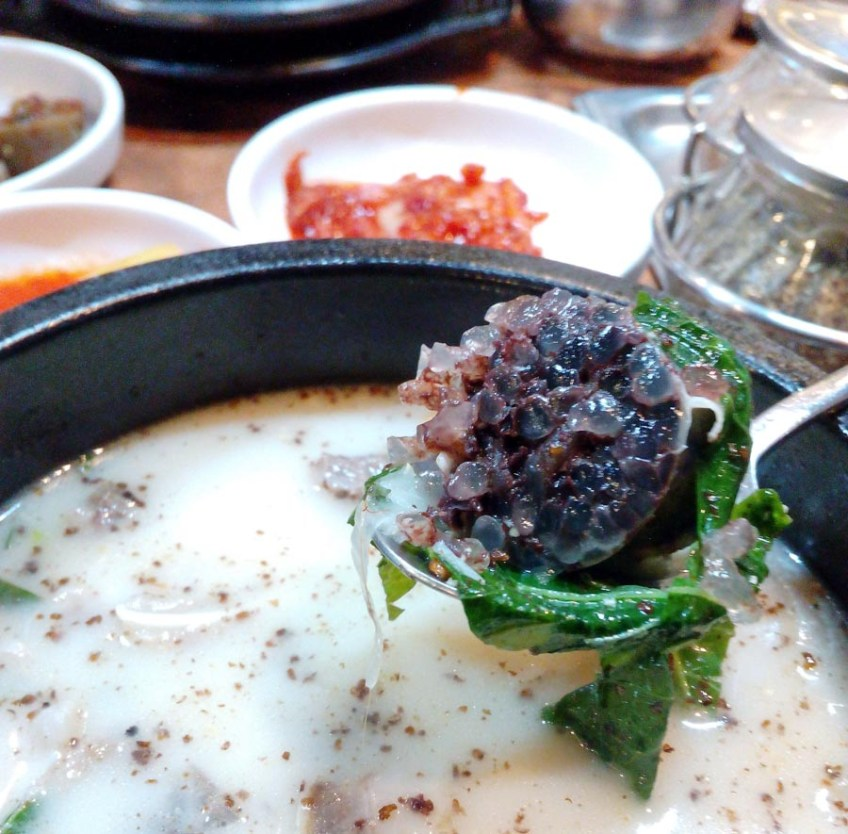 Sundaeguk - blood sausage soup