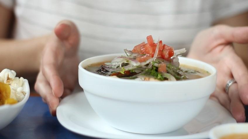 My favorite Ecuadorian soup - encebollado