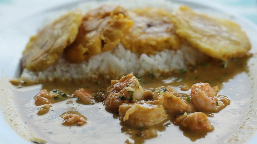 Encocado, an African influenced Ecuadorian dish
