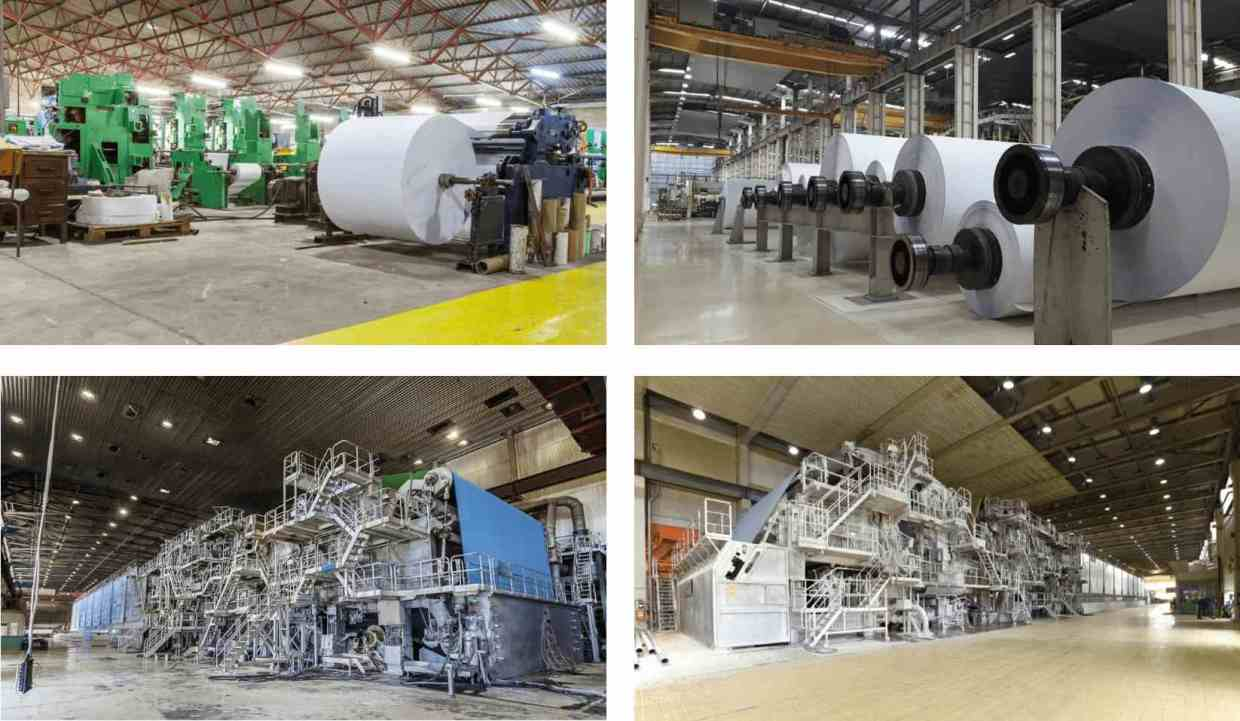 Paper manufacturing machines and associated processes