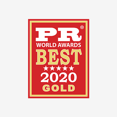 PR Wolrd Awards Best 2020 Gold