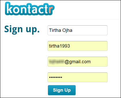 add blogger contact form inside contact us page using kontactr