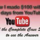 earned money from youtube
