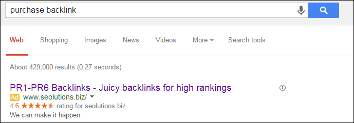 google search to buy backlinks