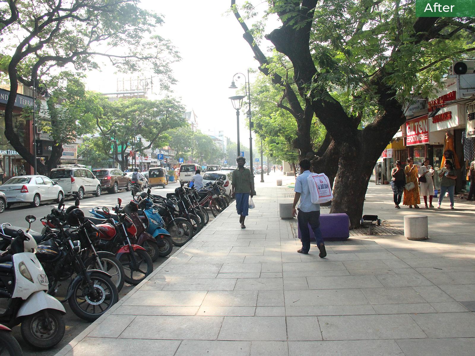 After-The Pondy Bazaar Pedestrian Plaza