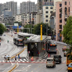 Gold-Standard BRT system in Yichang, China