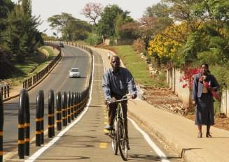 Protected bike lanes...