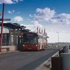 The Rea Vaya BRT in Johannesburg, South Africa