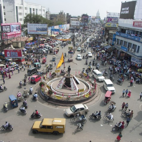 Albert Ekka Chowk, a major intersection on the Main road in Ranchi as it is now.