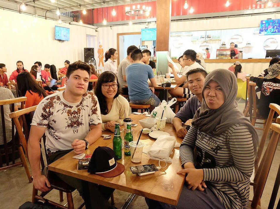 ITDP Indonesia's Medan outreach team, L-R Ferdinand, Ria, Ari, and Anggi after a hard day's work.