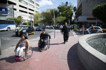 "Pedestrian realm must be accessible to ""pedestrians"" using all forms of walk aids like here in Guadalajara, Mexico. Photo Credit: Héctor Ríos"