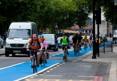 "London has made major investments in cycling infrastructure, including a successful rollout of cycle superhighways. After seeing an influx of dockless bikes on its streets, London got out in front of other cities on regulation of dockless bikeshare. Transport for London's code of practice for dockless cycle hire ""lets operators know what is expected of them and ensures that dockless bike schemes complement London's public transport network"", including requirements that operators provide bikes in the city's surrounding boroughs, outside of Central London."