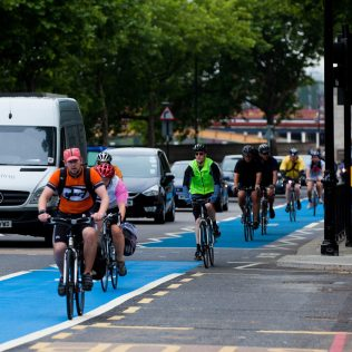"""London has made major investments in cycling infrastructure, including a successful rollout of cycle superhighways. After seeing an influx of dockless bikes on its streets, London got out in front of other cities on regulation of dockless bikeshare. Transport for London's code of practice for dockless cycle hire """"lets operators know what is expected of them and ensures that dockless bike schemes complement London's public transport network"""", including requirements that operators provide bikes in the city's surrounding boroughs, outside of Central London."""