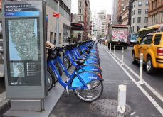 New York's Citi Bike, the largest station-based system in the US, is also one of the best performing, with 6.4 trips per bike per day. Since opening in 2013, it has become an integral part of NYC's transit network, providing valuable connections to bus and subway, particularly as the city continues to grow and develop in neighborhoods not served by subway lines. Originally launched with 6000 bikes, expansions in 2015 and 2017 doubled the size of the system to 12,000 bikes and 750 stations across Manhattan, Brooklyn, Queens, and Jersey City. There are currently no dockless bikes permitted, but the city is working on a pilot program that will be rolled out later this year, and 12 operators, including the dockless e-bike operator Jump, have applied.